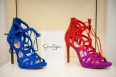 Jessica Simpson Racine Lace Up Ghille Sandals available in suede in the shoe boutique.